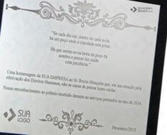 Placa de Homenagem - Homenagem Brasil