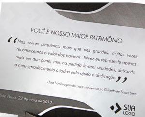 Homenagem Brasil Placas De Homenagem Personalizadas